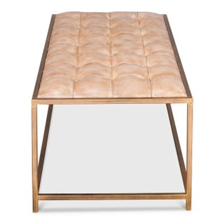 Sarreid Ltd., Montvale Tufted Leather Coffee Table / Bench Preview