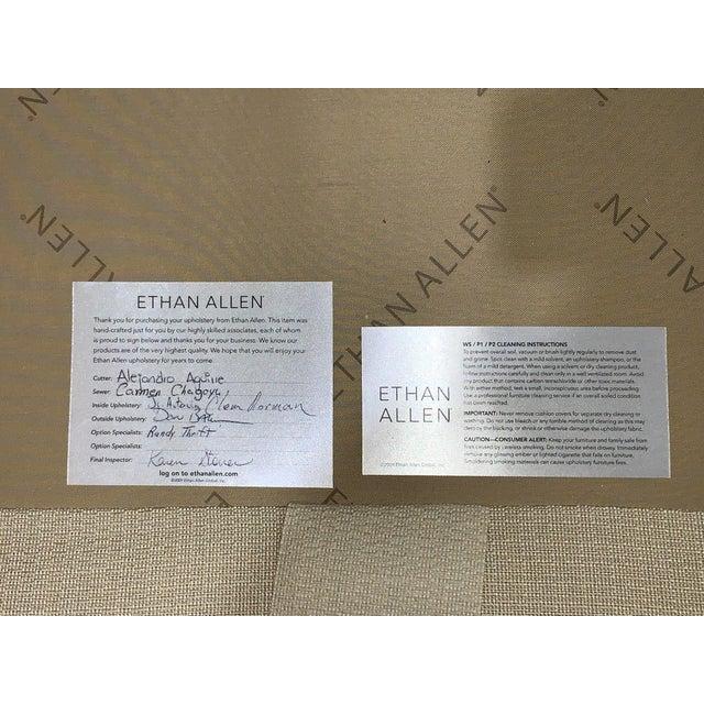 Ethan Allen Tuxedo Sofa For Sale - Image 9 of 10