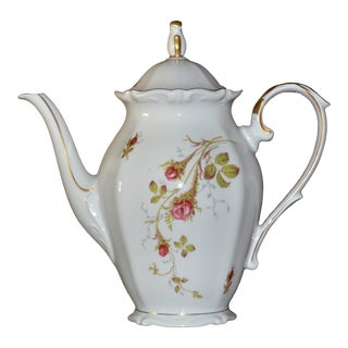 Shabby Chic W Eschenbach Bavaria Germany Briar Rose China Tea/Coffee Pot For Sale
