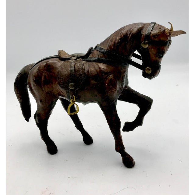 1950s Leather Wrapped Horse Sculpture Figurine For Sale In New York - Image 6 of 8