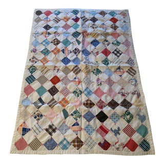 Vintage Shabby Chic Child's Quilt For Sale