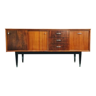 1960s Danish Modern Jentique Furniture Tola and Rosewood Credenza For Sale