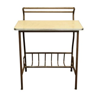 1950s Americana Metal Student's Desk For Sale