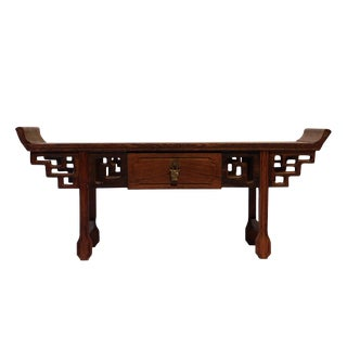 Asian Traditional Miniature Altar Table Shape Desktop Display Stand For Sale