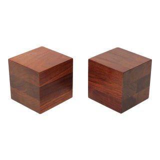 1960s Walnut Martz Bookends - a Pair For Sale