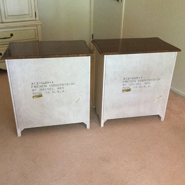 Drexel French Countryside Bedside Chests - a Pair For Sale - Image 6 of 9