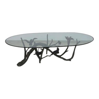 Large and Heavy Bronze Tree Birds Coffee Table in the Manner of Giacometti For Sale