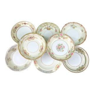 Vintage Mismatched Fine China Dessert Bowls - Set of 8