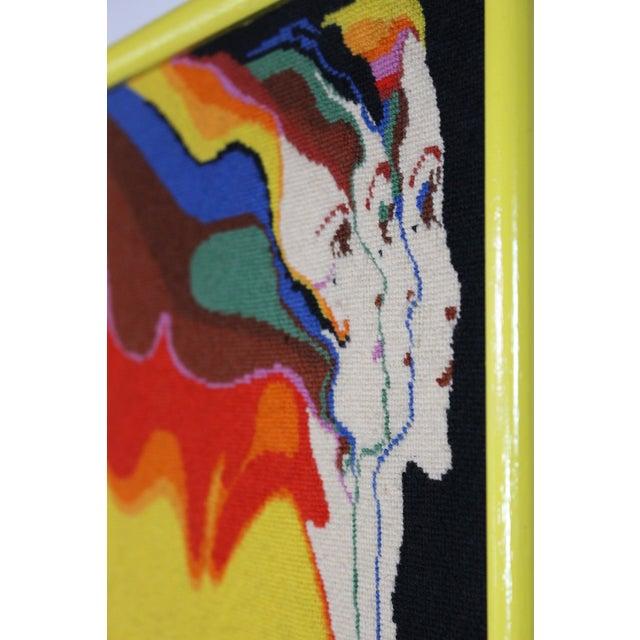 "Art Nouveau 1970s Vintage Embroidered Divine Feminine ""Three Graces"" by John Luke Eastman Needlepoint Textile Art For Sale - Image 3 of 6"