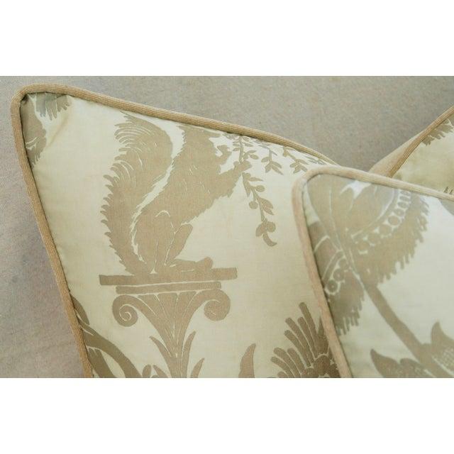 Designer Italian Fortuny Lamballe Pillows - Pair - Image 9 of 11