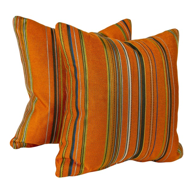 """18"""" Maharam Point by Paul Smith Pillows, Pair For Sale"""
