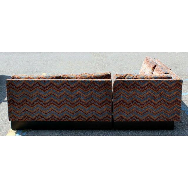 Textile Mid Century Modern Erwin Lambeth 3 Piece Plinth Base Sectional Lenor Larsen 70s For Sale - Image 7 of 10