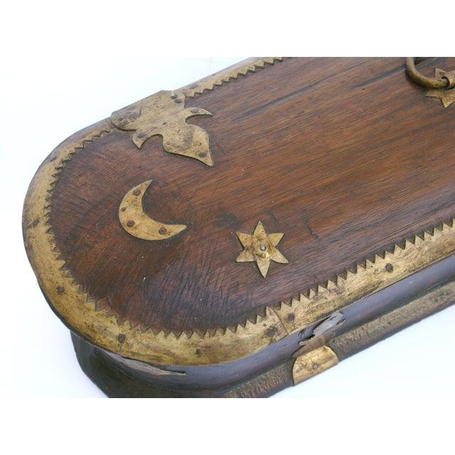 Vintage Wood Kerala Box II For Sale - Image 8 of 9