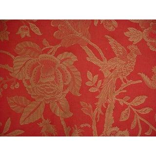 Lee Jofa Beauvois Weave Chinois Bird Brocade Upholstery Fabric- 13 1/2 Yards For Sale