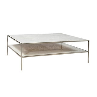 White Marble Coffee Table For Sale