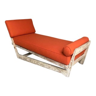 Maurice Pre-Exceptional Cerused Sandblasted Oak Multi-Position Daybed For Sale