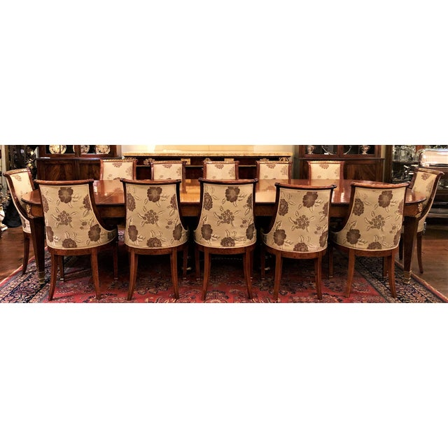 Antique French Empire Style Circassian Walnut Dining Suite: Table, Sideboard and 12 Chairs. For Sale - Image 13 of 13