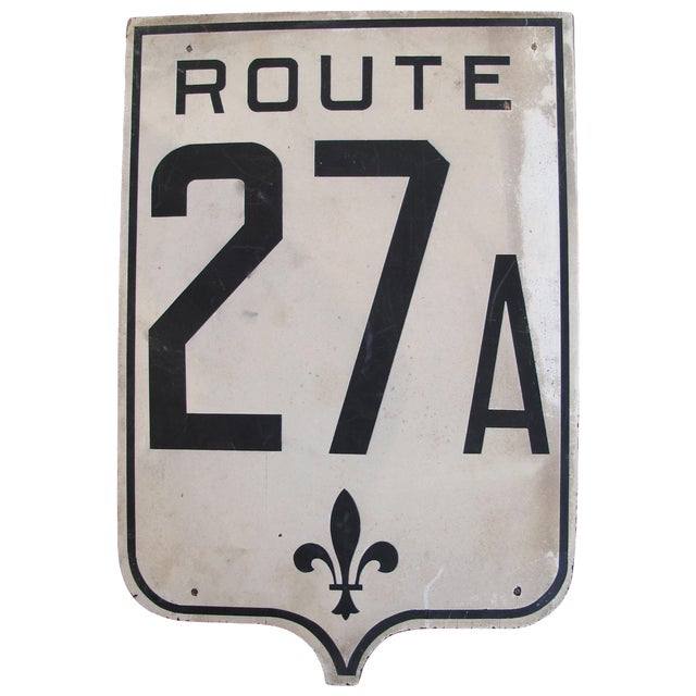 Vintage French Road Sign - Route. 27A - Image 1 of 3