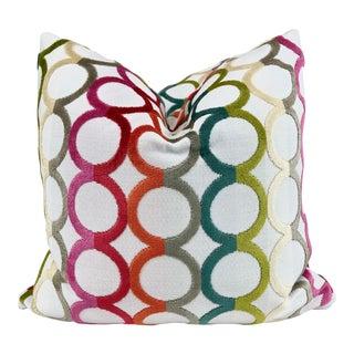 "Kravet ""Ringleader"" in Confetti 22"" Pillows-A Pair For Sale"