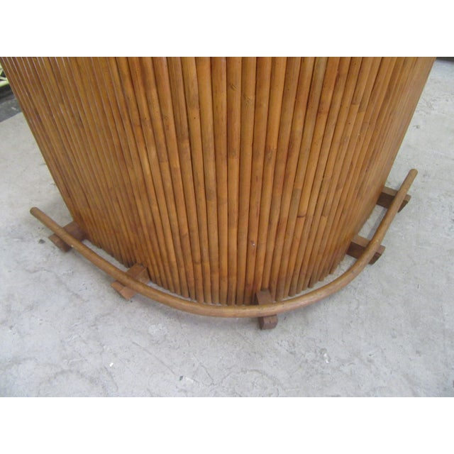 American 1970s Island Style Bamboo Bar For Sale - Image 3 of 8