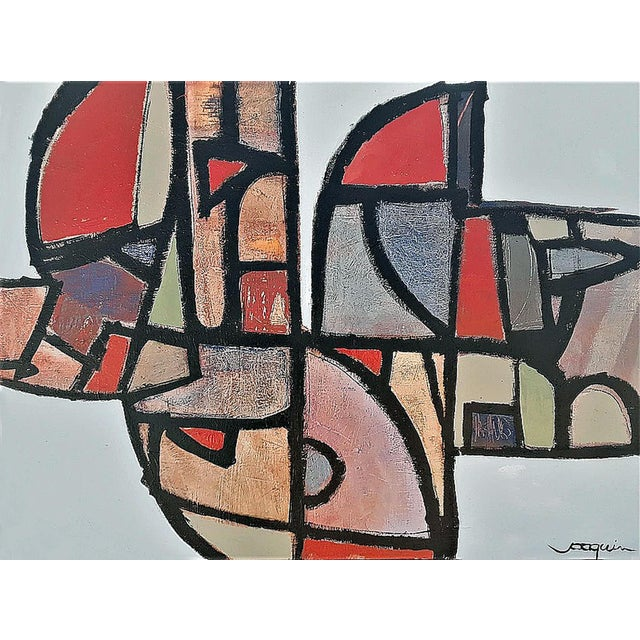 """2010s """"Stained Glass Gone Awry"""" by Kenneth Joaquin (B. 1948) For Sale - Image 5 of 5"""