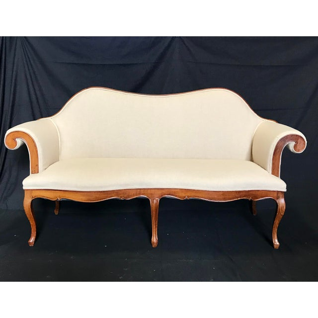 French Louis XV Style Walnut Loveseat With Cabriole Legs For Sale In Portland, ME - Image 6 of 6