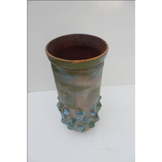 Vintage Blue Bonnet Ceramic Vase For Sale - Image 7 of 10