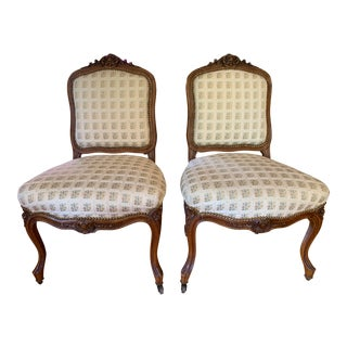 Walnut LXV Chairs- a Pair For Sale