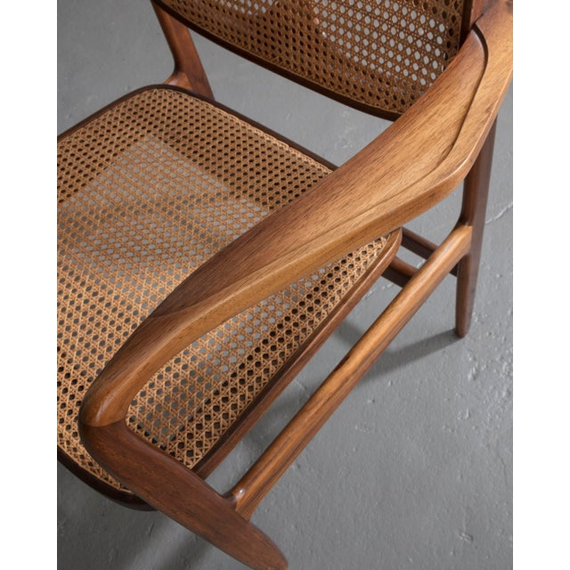 "Brown ""Poltrona Oscar"" chair by Sergio Rodrigues, Brazil, 1958. For Sale - Image 8 of 9"