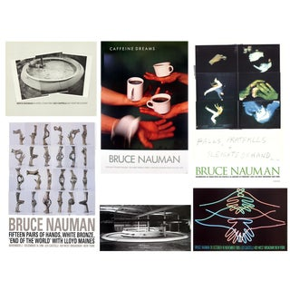 Bundle- 6 Assorted Bruce Nauman Authentic Posters For Sale