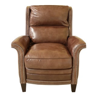 Maitland Smith 7109 Leather Power Recliner Chair For Sale