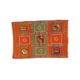 Image of Berber Rug- Small With Green and Orange Panels For Sale