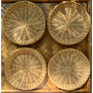 Vintage Natural Wicker Plate Holders - Set of 4 Preview