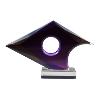 Shlomi Haziza Abstract Lucite Sculpture For Sale