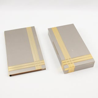 Italian Noel b.c. 1970s Modernist Metal Box and Contact Book Desk Set Preview