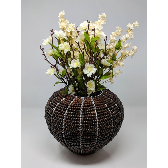 Tribal Fair Trade Beaded Vase For Sale - Image 9 of 13