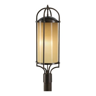 Transitional Bronze Post Lantern Aluminum For Sale