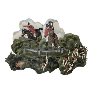 Tole Equestrian Wall Decor For Sale