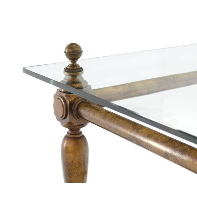 Figural Base Glass Top Side End Table For Sale - Image 4 of 7