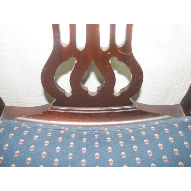 Antique Mahogany Dining Chairs - Set of 5 For Sale - Image 4 of 10