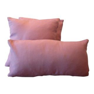 Lavender Tempotest Italian Woven Fabric Pillow Covers - Set of 3