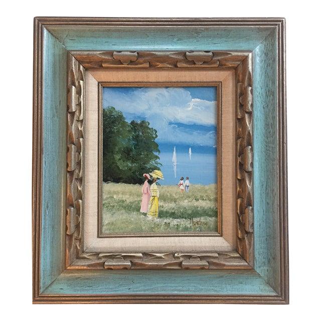 Original Vintage Impressionist Painting by Montrec For Sale