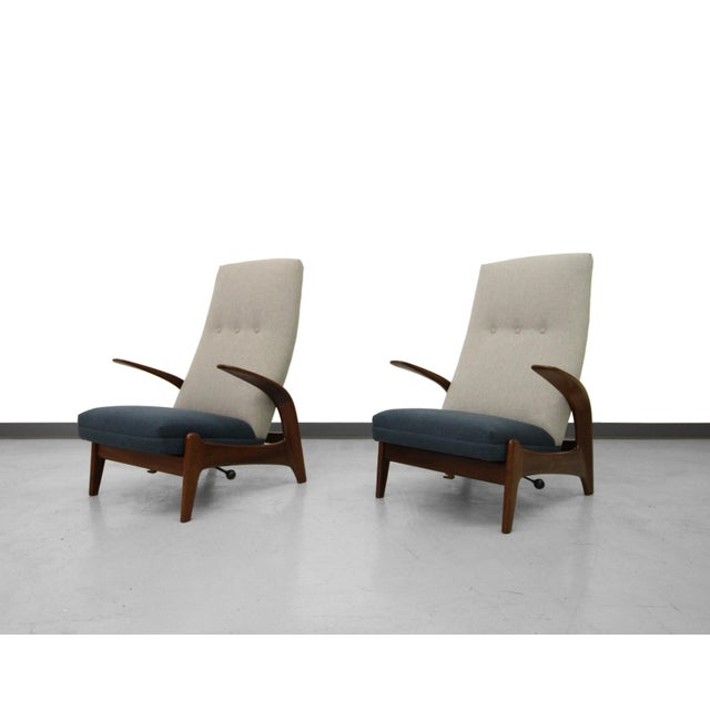 Vintage Gimson & Slater Reclining Lounge Chairs - A Pair - Image 3 of 7