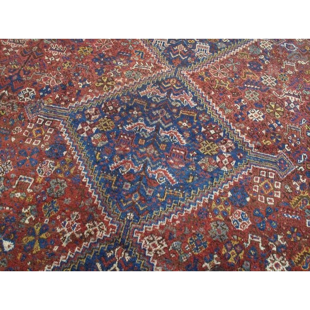 """Early 20th Century Shiraz """"Birds"""" Carpet For Sale - Image 5 of 10"""
