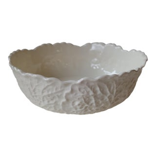 White Ceramic Cabbage Bowl For Sale