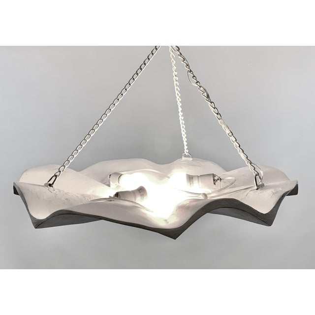 2010s Mid-Century Modern Plaster Chandelier For Sale - Image 5 of 6