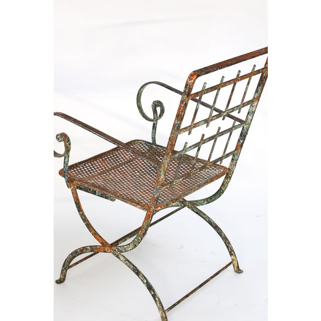 French Pair of French Iron Garden Chairs For Sale - Image 3 of 13