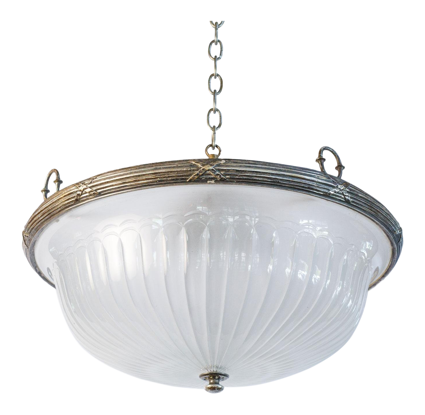 Neoclassical lighting Neoclassical Chandelier Classic Glass And Silver Plated Pendant For Sale Chairish Antique Designer Neoclassical Lighting Decaso