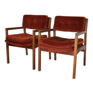 Mid-Century Cube Chairs - A Pair