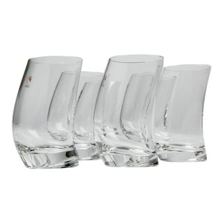 Italian Crystal Glasses by Angelo Mangiarotti, 1990's